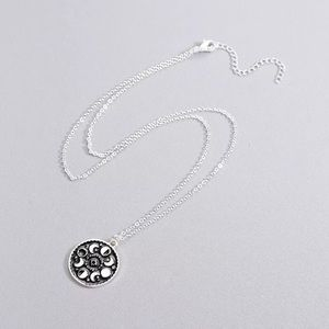 Moon phase witchy trendy boho necklace Astro